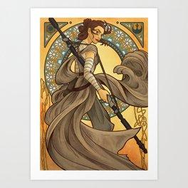 Art Nouveau Rey Art Print