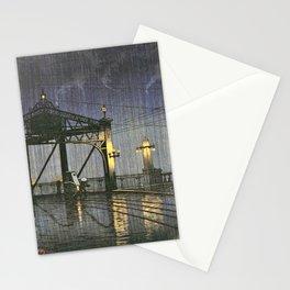12,000pixel-500dpi - Kawase Hasui - Twenty Views Of Tokyo, Shinohashi Bridge Stationery Cards