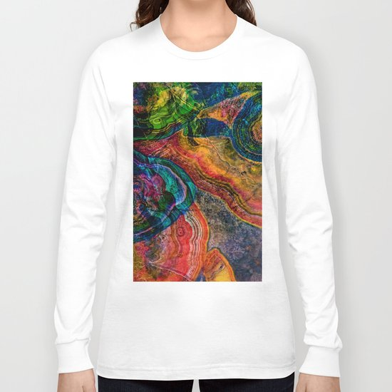 crystal marble Long Sleeve T-shirt