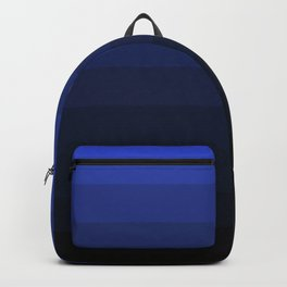 Black and blue striped Ombre Backpack