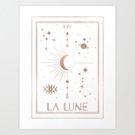 La Lune or The Moon White Edition Art Print