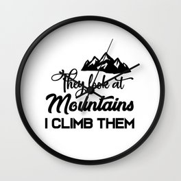 Mountaineer Climbing Wall Clock