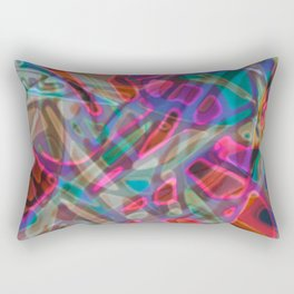 Colorful Abstract Stained Glass G297 Rectangular Pillow