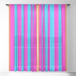 stripes modern pattern Sheer Curtain