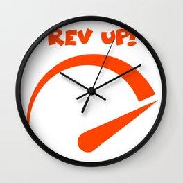 Rev up Wall Clock