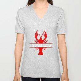 I swallow funny crawfish shirt gift for festival visitors Unisex V-Neck