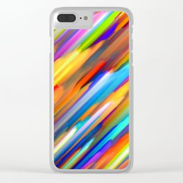 Colorful digital art splashing G391 Clear iPhone Case