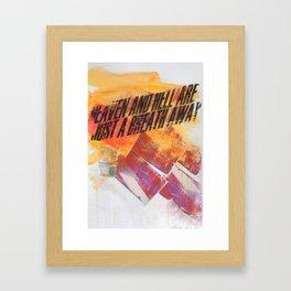 HEAVEN&HELL Framed Art Print
