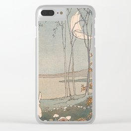 Rabbit in the forest Clear iPhone Case
