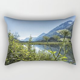 Wildflowers by the Side of Tern Lake Rectangular Pillow