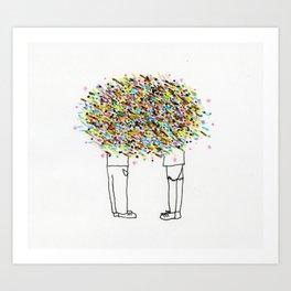 Cloud Conversation Art Print