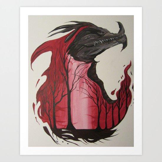 Firebirth Art Print