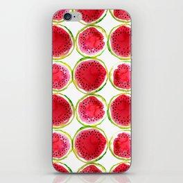 Watercolor watermelon fruit illustration iPhone Skin