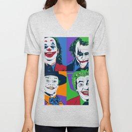 Joker Pop Art Unisex V-Neck