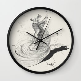 Vintage poster-Salvador Dali-Pencil drawing-Dance. Wall Clock