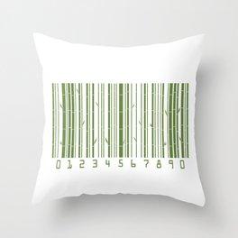 Bamboo Barcode Throw Pillow