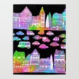 Colorful Town Poster