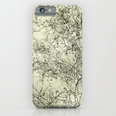 Sycamore Tree, Inky Green Toile Version iPhone 6s Slim Case