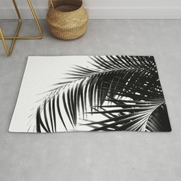 Palm Leaves Black & White Vibes #1 #tropical #decor #art #society6 Rug