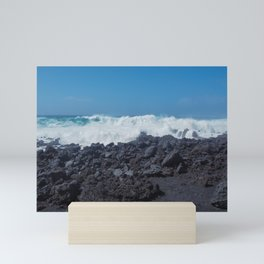 Atlantic Waves and Volcanic Coast, Lanzarote Mini Art Print