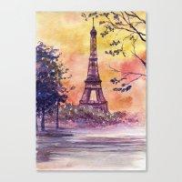 paris Canvas Prints featuring Paris by Anna Shell