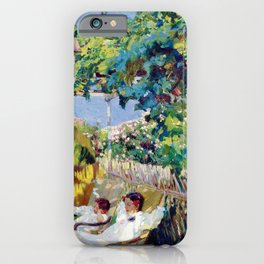 Joaquin Sorolla y Bastida - Nap in the Garden 1904 iPhone Case