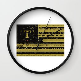 True Flag Wall Clock