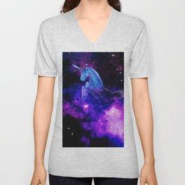 Cosmic Unicorn Unisex V-Neck