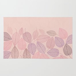 LEAVES ENSEMBLE ROSE Rug