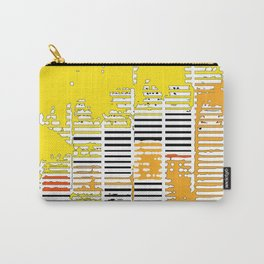 Shadows Through Shutters - yellow Carry-All Pouch