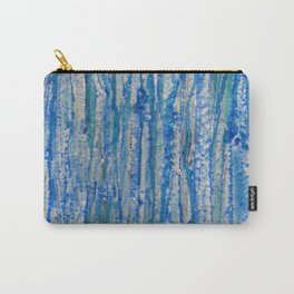 Encaustic Streaks (blue) Carry-All Pouch