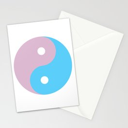 Transgender Yin Yang Symbol Stationery Cards