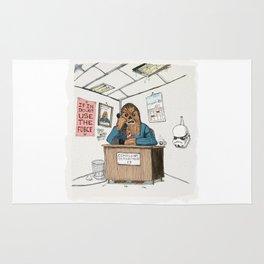 Chewwie at work Rug