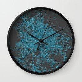 Guadalajara map Wall Clock