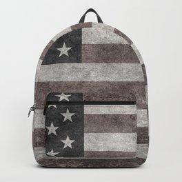 American flag, Retro desaturated look Backpack