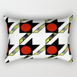 HOUNDSTOOTH PATTERN WITH POLKA DOT EFFECT Rectangular Pillow