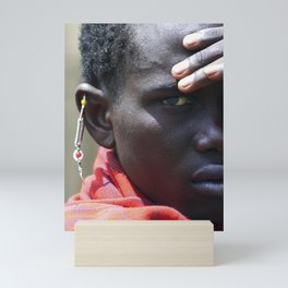 Portrait Maasai Warrior 4335 Mini Art Print
