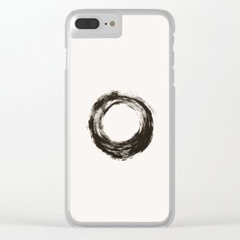 To live is enough Clear iPhone Case