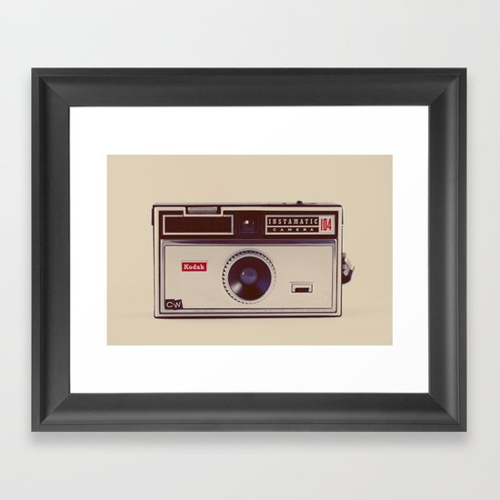 Instamatic Framed Art Print