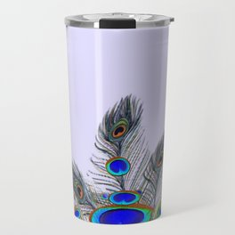 GREEN PEACOCK FEATHER & JEWELS #2 Travel Mug