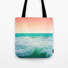 Aqua and Coral, 3 Tote Bag