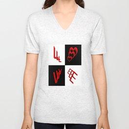 L O V E Typography 2 Unisex V-Neck