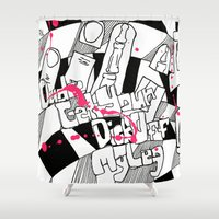 the dude Shower Curtains featuring Dude by Pd-Arts