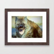 Laughing Hyena  Framed Art Print