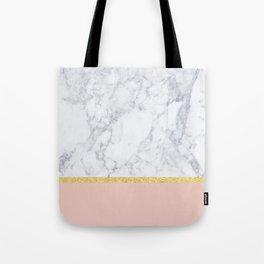 Marble Peach Tote Bag