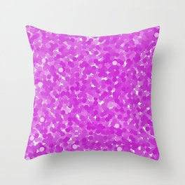 Dazzling Violet Polka Dot Bubbles Throw Pillow