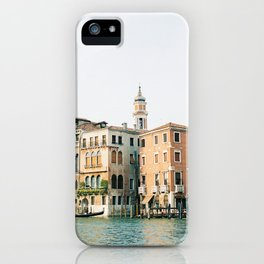 Travel photography | Architecture of Venice | Pastel colored buildings and the canals | Italy iPhone Case