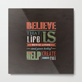 Choose To Believe Metal Print