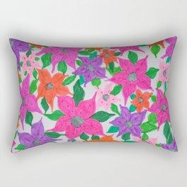 Colorful Spring Floral Garden Rectangular Pillow