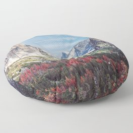 Tunnel View Yosemite Valley Floor Pillow
